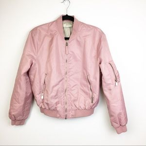 Zara Light Pink Bomber Puffer Coat SZ S